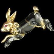 Jelly Belly Easter Bunny Rabbit With Golden Bow Pin
