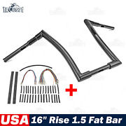 Rise 16 Ape Bar Handlebar 1 1/2 For Harley 07-13 Road Glide + Extension Wire