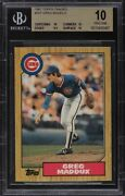 1987 Topps Traded Greg Maddux Rookie Rc 70t Bgs 10 Pristine