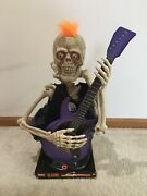 Halloween Animated Skeleton Playing Guitar Another One Bites The Dust New