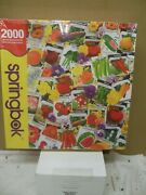 Springbok '' Packets Of Promise '' 2000 Piece Puzzle Nib Hard To Find