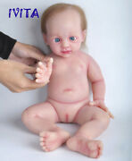 Ivita 20and039and039 Soft Silicone Reborn Doll Rooted Hair Baby Girl Toy Xmas Gift 5000g