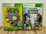2 Xbox 360 Games Plant Vs. Zombies And Plant Vs. Zombies Garden Warfare - Tested