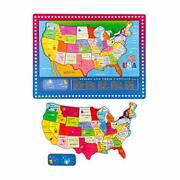 46 Pieces Wooden Map Puzzle For Kids Us Map Puzzle Educational Geography Puzzles