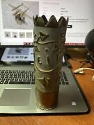 Wwi Trench Art Artillery Shell Battle Reims A Beautiful Vase Large Brass