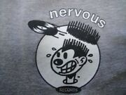 Nervous Records 90s Early Type Vintage T-shirt Hip Hop House Black Moon