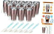 20oz Stainless Steel Insulated Tumbler Pack Bulk Travel Mug With 12 Rose Gold
