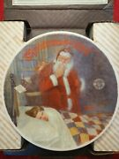 Knowles Collector Plates Christmas 1986 By Norman Rockwell With Certificate...