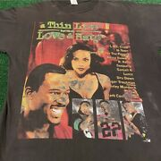 Vtg 90s Thin Line Love And Hate Rap Tee Boot Movie Promo Vintage Shirt Mens Xl