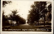 Rppc Looking East From Library Anamosa Iowa 1920 Real Photo Postcard