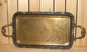 Vintage Egyptian Hand Made Ornate Brass Serving Tray