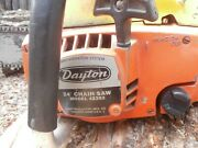 Vintage Dayton 4z252 Rare Muscle Chainsaw Poulan 5200 24 Bar And Chain