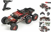 112 Scale Large Rc Cars Truck 60+kmh High Speed For Adults And Kids6x6 Red