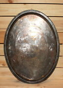 Antique Silver Plated Brass Serving Tray