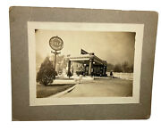 Vintage 1930s Best Gulf Station Gas Signs Mounted Photo