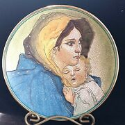 Veneto Flair Plate Mother And Child 1972 V. Tiziano Ltd Ed 186/2000 Italy Nos