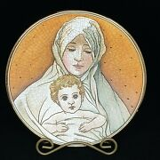Veneto Flair Plate Mother And Child 1973 V. Tiziano Ltd Ed 1291/2000 Italy Nos