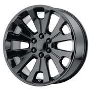 4 Rims Oe Creations For Chevy/gmc/cadillac 24x10 6x5.5 Offset 30 Gloss Black