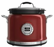 Kitchenaid 4 Quart Multi-cooker In Candy Apple Red- 4364