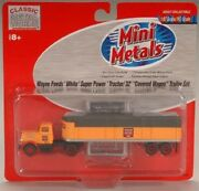 Classic Metal Works N Scale Wayne Feeds 32' Covered Wagon Tractor Trailer Set