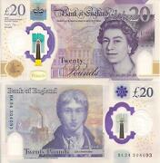 England 20 Pound Banknote World Paper Money Currency Xf Pick Pnew 2020 Queen