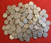 1950-d Jefferson Nickel 1/4 Roll 10 Coins Nice Circulated Coins