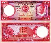 Equatorial Guinea 1,000 Ekuele Banknote World Paper Money Aunc Currency Pick P13