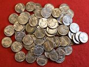1950-d Jefferson Nickel 1/4 Roll 10 Coins Bu Gem Coins From Pictured Group