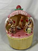 Schmid Gingerbread Junction The Cupcakes Bandshell Music Box- Jingle Bell Rock