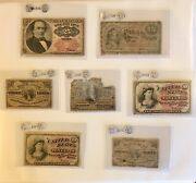 Lot Of 7 Fractional Currency Poor Or Better On Sale