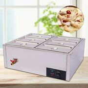 6 Pan Commercial Food Soup Warmer Steam Table
