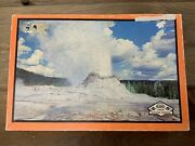 Vintage Jigsaw Puzzle Yellowstone National Park Castle Geyser 6 Built Rite