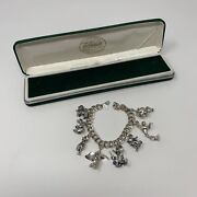 Vintage Disney Store Sterling Silver Charm Bracelet Limited Edition Collection 8