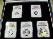 2015 Great Britain Proof Silver Britannia Ngc Pf70 Uc 5 Coin Proof Set