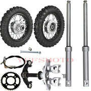 Crf50 Front And Rear 2.5-10 Wheels Rims Tires And Drum Brake Front Fork Triple Tree