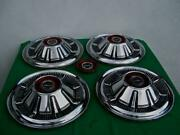 1966 -1977 Original Ford Bronco Pickup 15 Hubcaps With Extra Insert- Set Of 4