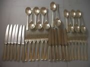Cooper Bros 1976 Rattail Silver Canteen Cutlery 1584 Grams 6 Place Setting