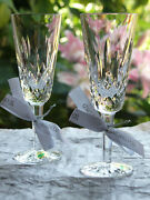 Waterford Crystal Lismore Champagne Flute Pair Brand New