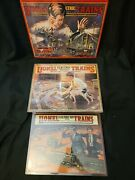 Lot Of 3 Lionel Train Tin Metal Sign - Collectable Vintage Catalog Cover -