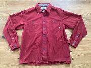 Simms Blacks Ford Flannel Shirt Red Large Fly Fish Fishing Hike Outdoors Euc