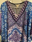Gypsie Blu Xl 1x 2x 3x 4x 5x Plus Muu Muu Moo Moo Kaftan Gown Dress One Size