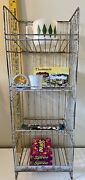Vintage Nifties Metal Country Store Candy Display Rack Kitchen Counter Decor