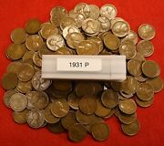 1931-p Lincoln Wheat Cent Penny 50 Coin Roll G-vf Great Collector Coins Gift