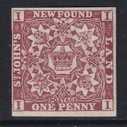 Canada Newfoundland Qv Stamp Sg16a 1d Red-brown 1861 Candpound8500 - Mounted Mint