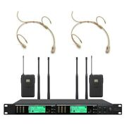True Diversity Wireless Mic System For Shure Professional Headset Microphone Uhf