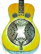 Dobro Acoustic Guitar 1975 Vintage Flat Top Fork Dw 60sq Nt With Hard Case