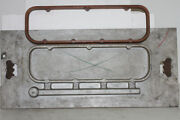 Vintage Weiand Casting Plate And Wood Pattern For Bb Chevrolet Valve Cover Spacer