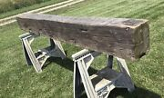 1880 Vintage Rustic Reclaimed 8andrsquo Barn Wood Hand Hewn Beam Cabin Fireplace Mantel