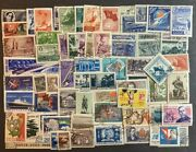 Russia Used Stamp Collection Topical Space Sports Scenes Ship Planes Train 100