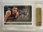 2019-2020 Panini One And One Timeless Moments Zach Lavine /99 Bgs 9.5 Auto 10